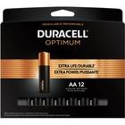 Duracell Optimum Battery - For General Purpose - AA - Alkaline - 12 / Pack
