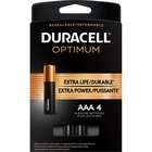 Duracell Optimum Battery - For General Purpose - AAA - Alkaline - 4 / Pack
