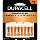 Duracell Battery - For Hearing Aid - 13 - 1.4 V DC - Zinc Air - 8 / Pack