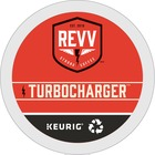 revv® TURBOCHARGER Coffee K-Cup - Caffeinated - Extra Bold/Dark - Kosher - 24 / Box
