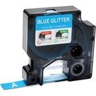 "Dymo COLORPOP! D1 Label Tape - Permanent Adhesive - 1/2"" Width x 10 ft Length - Rectangle - Glitter Blue - Plastic - 1 Each"