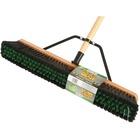 "Globe 24"" Assembled Wood Block Contractor Push Broom-Medium - 65"" (1651 mm) Overall Length - 4 Each"