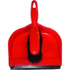 Globe Clip-On Dust Pan And Brush Set - Red, Black - 24 Pack