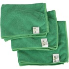 "Globe 16""x16"" Microfiber Cloth 240GSM Green - Cloth - 16"" (406.40 mm) Width x 16"" (406.40 mm) Length - 10 / Pack - Green"