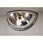 "Safety Zone Mirror - Half-dome24"" Diameter - Black"