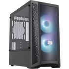 "Cooler Master MasterBox MB311L ARGB Computer Case - Mini-tower - Black - Steel, Mesh, Plastic, Tempered Glass - 4 x Bay - 2 x 4.72"" (120 mm) x Fan(s) Installed - 0 - Mini ITX, Micro ATX Motherboard Supported - 5.47 kg - 6 x Fan(s) Supported - 0 x External"