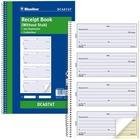 "Blueline Receipt Book - 200 Sheet(s) - Spiral Bound - 2 PartCarbonless Copy - 6 5/8"" x 10 5/8"" Sheet Size - Blue Cover"