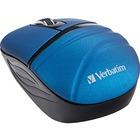 Verbatim Wireless Mini Travel Mouse, Commuter Series - Blue - Wireless - Radio Frequency - 2.40 GHz - Blue - 1000 dpi