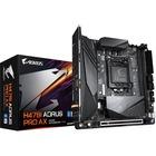 Aorus Ultra Durable H470I AORUS PRO AX Desktop Motherboard - Intel Chipset - Socket LGA-1200 - 64 GB DDR4 SDRAM Maximum RAM - DIMM, UDIMM - 2 x Memory Slots - Gigabit Ethernet - Wireless LAN - IEEE 802.11 a/b/g/n/ac/ax - 5 x USB 3.1 Port - HDMI - 2 x RJ-4