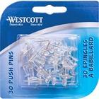 Westcott Push Pins - Clear