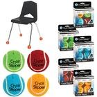 Merangue 4pk Assorted Colour Chair Slippers