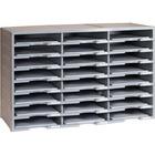 Storex 24 Compartment Literature Sorter, Gray