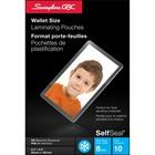"Swingline GBC SelfSeal Self Adhesive Wallet Size Laminating Pouches 2-3/8"" x 3-7/8"""