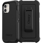 OtterBox Defender Rugged Carrying Case (Holster) Apple iPhone 12 mini Smartphone - Black