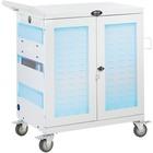 Tripp Lite CSC32USBWHG Hospital-Grade 32-Device UV Charging Cart, White