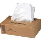 "Fellowes AutoMax 130C/200C Shredders Waste Bags - 34.07 L - 30"" (762 mm) Height x 29"" (736.60 mm) Width x 14"" (355.60 mm) Depth - 100/Box - Plastic - Clear"