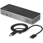 USB-C & USB-A Dock - Hybrid Triple Monitor Laptop Docking Station DisplayPort & HDMI 4K 60Hz/85W PD/6x USB/GbE/USB 3.1 Gen 2