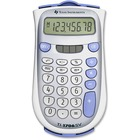 "Texas Instruments TI1706 SuperView Handheld Calculator - Dual Power, Sign Change, 3-Key Memory, Large Display, Slide-on Hard Case, Wall Mountable - Battery/Solar Powered - 8.2"" x 4.5"" x 1"" - Gray - 1 / Each"
