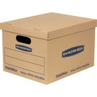 """Bankers Box SmoothMove Storage Case - External Dimensions: 71.8"""" Length x 12.7"""" Width x 58.4"""" Height - Lid Closure - Cardboard - For Moving, Storage - Recycled - 10"""