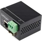 StarTech.com Industrial Fiber to Ethernet Media Converter - 100Mbps SFP to RJ45/CAT6 SM/MM - Fiber to Copper Network - IP-30 12V Input - Fiber to Ethernet Media Converter extends networks & converts optical fiber to RJ45 Copper/CAT6 - Industrial Hardened