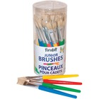 Funstuff 36 Chubby Flat Bristle Brushes in Cannister