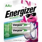 Energizer NH15BP-2 AA Nickel-metal Hydride Rechargeable Battery - For Multipurpose - Battery Rechargeable - AA - Nickel Metal Hydride (NiMH) - 2 / Pack