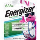 Energizer AAA Rechargeable Nickel Metal Hydride Battery - For Multipurpose - Battery Rechargeable - AAA - 650 mAh - Nickel Metal Hydride (NiMH) - 2 / Pack