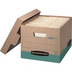 """Bankers Box Recycled R-Kive File Storage Box - Internal Dimensions: 12"""" (304.80 mm) Width x 15"""" (381 mm) Depth x 10"""" (254 mm) Height - External Dimensions: 12.8"""" Width x 16.5"""" Depth x 10.4"""" Height - 800 lb - Media Size Supported: Letter, Legal - Lift-off"""