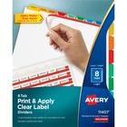 "Avery® Index Maker Index Divider - 8 - 8 Tab(s)/Set - 8.50"" Divider Width x 11"" Divider Length - 3 Hole Punched - White Paper, Multicolor Divider - Paper Tab(s) - 1"