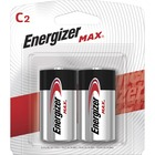 Energizer MAX Alkaline C Batteries, 2 Pack - For Toy, Flashlight, Radio - C - 1.5 V DC - 8350 mAh - Alkaline - 2 / Pack
