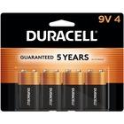 Duracell Coppertop Alkaline 9V Battery - MN1604 - For Multipurpose - 9V - 9 V DC - Alkaline - 4 / Pack