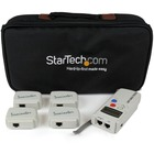 StarTech.com Professional RJ45 Network Cable Tester with 4 Remote Loopback Plugs - LAN Cable Tester Professional - Network testing device - Token Ring - Network tester