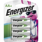 Energizer Recharge NiMH AA Batteries - For Multipurpose - Battery Rechargeable - AA - 1.2 V DC - 2300 mAh - Nickel Metal Hydride (NiMH) - 4 / Pack