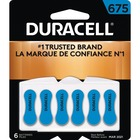 Duracell Zinc Air Hearing Aid Battery - For Hearing Aid - 1.4 V DC - Zinc Air - 6