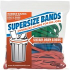 "Alliance Rubber SuperSize Bands - Size: Large, Large, Large - 17"" (431.80 mm) Length - 0.25"" (6.35 mm) Thickness - Heavy Duty, Environmentally Friendly, Reusable, Elastic, Stretchable, Strong - 24 / Pack - Latex - Assorted"