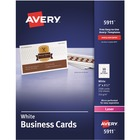 "Avery® Laser Print Business Card - 2"" x 3 1/2"" - 2500 / Box - White"