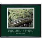 """Advantus Motivational Communication Poster - 30"""" (762 mm) Width x 24"""" (609.60 mm) Height - Black Frame"""
