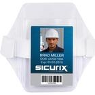 "SICURIX Heavy-Duty Arm Badge Holder - Vertical - 2.50"" (63.50 mm) x 3.50"" (88.90 mm) x - Vinyl - 1 Each - Clear"