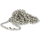 """SICURIX Beaded ID Chain-25/Pk - 25 / Pack - 36"""" (914.40 mm) Length - Silver - Nickel Plated"""