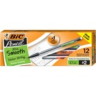 BIC Refillable Mechanical Pencils - 0.7 mm Lead Diameter - Refillable - Clear Barrel - 12 / Dozen
