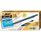 BIC Matic Grip Mechanical Pencils - 0.7 mm Lead Diameter - Refillable - Assorted Barrel - 12 / Dozen