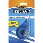 "Wite-Out EZ Correct Correction Tape - 0.20"" (5.08 mm) Width x 39.4 ft Length - 1 Line(s) - White Tape - Ergonomic White Dispenser - Tear Resistant, Photo-safe, Odorless - 1 / Each - White"