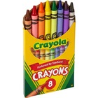 "Crayola Tuck Box Classic Childrens Crayons - 3.63"" (92.08 mm) Length - 0.31"" (7.94 mm) Diameter - Assorted"