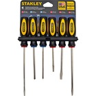 Stanley-Bostitch 6 Piece Standard Fluted Screwdriver Set - Steel - Slip Resistant, Ergonomic Handle - 6 / Set