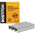 """Bostitch 1/2"""" Heavy Duty Chisel Point Staples 1000 - Heavy Duty - 1/2"""" Leg - 1/2"""" Crown - Holds 85 Sheet(s) - Chisel Point - Silver - High Carbon Steel - 0.69"""" (17.53 mm) Height x 2.72"""" (69.09 mm) Width3"""" (76.20 mm) Length - 1000 / Box"""