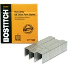 """Bostitch 5/8"""" Heavy Duty Premium Staples - Heavy Duty - 5/8"""" Leg - 1/2"""" Crown - Holds 130 Sheet(s) - Chisel Point - Silver - High Carbon Steel - 0.80"""" (20.32 mm) Height x 2.70"""" (68.58 mm) Width3.04"""" (77.22 mm) Length - 1000 / Box"""