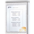 """C-Line Self-Gripping Office Panel Organizers - Support 8.50"""" (215.90 mm) x 11"""" (279.40 mm) Media - Polypropylene - 2 / Pack - White"""