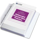 """C-Line Heavyweight Top-Loading Sheet Protector - For Letter 8 1/2"""" x 11"""" Sheet - 3 x Holes - Ring Binder - Clear - Polypropylene - 100 / Box"""