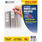 "C-Line Self-Adhesive Binder Labels - 1.75"" (44.45 mm) x 3.25"" (82.55 mm) - Vinyl - 12 / Pack - Clear"