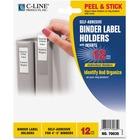 "C-Line Self-Adhesive Binder Labels - 2.25"" (57.15 mm) x 3"" (76.20 mm) - Vinyl - 12 / Pack - Clear"